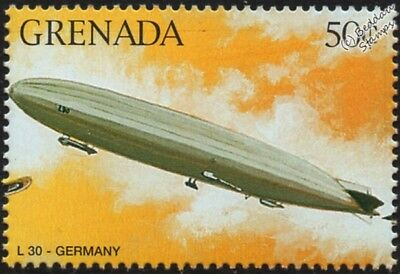 WWI Luftschiff Zeppelin LZ.62 (Imperial German Navy L30) Airship Aircraft Stamp