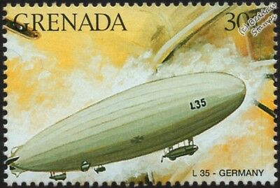 WWI Luftschiff Zeppelin LZ.80 (Imperial German Navy L35) Airship Aircraft Stamp