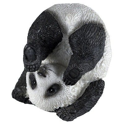 "Small Yoga Plow Position Panda Bear Figurine 2"" High Resin New In Box!"
