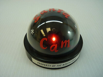 Santa Camera Cam Dome With Red LED blinking Light Dummy Fake Pretend