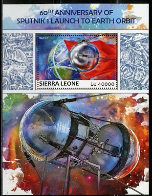 SIERRA LEONE 2017  60th ANNIVERSARY OF THE SPUTNIK LAUNCH S/S  MINT NEVER HINGED