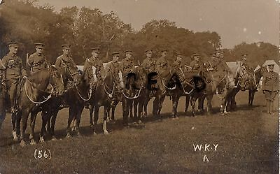 Soldier group Sgt with his Troop on Parade West Kent Yeomanry Eastbourne photo