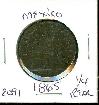 Mexico - 1865 - 1/4 Real