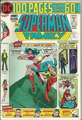 Superman Family #165 (Dc) 1974 (100 Pages) Vf/+ (8.0/8.5) Supergirl App.