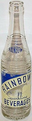 Vintage soda pop bottle RAINBOW BEVERAGES cornucopia pictured Memphis Tennessee