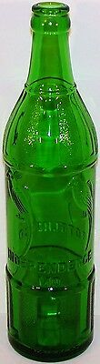Vintage soda pop bottle INDEPENDENCE BOTTLING Pollys Missouri 18oz emerald green