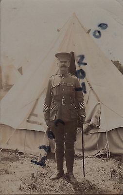 Soldier Regimental Sergeant Major ? Audsley Royal West Kent Regiment tented camp