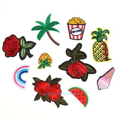 10pcs Mixed Applique Embroidery Patch Sticker Iron On Sew Cloth Patch DIY #JT1