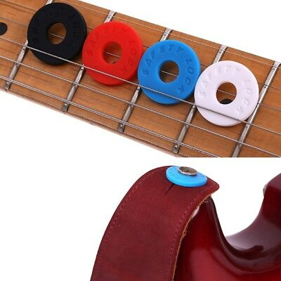5Pcs Bass Belt Musical Instrument Electric Guitar Strap Locks Blocks Silicone