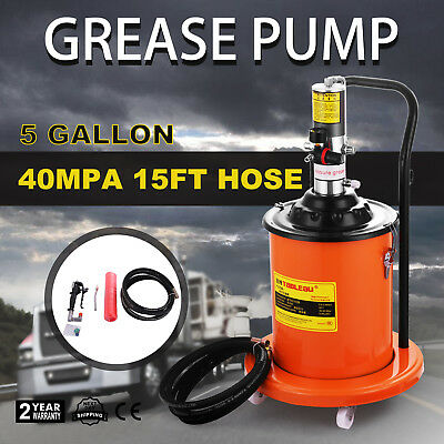 Air Operated High-Pressure Grease Pump (15FT Hose Gun) Booster Motor Pail HOT
