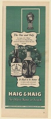 1946 Haig & Haig Scotch Whisky Ming Vase The One and Only Print Ad