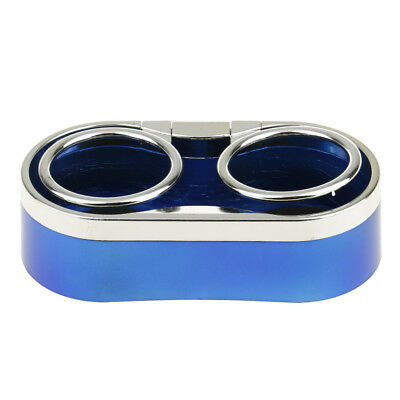 Car Auto Drink Bottle Dual Cup Beverage Can Holder Stand Organizer Blue