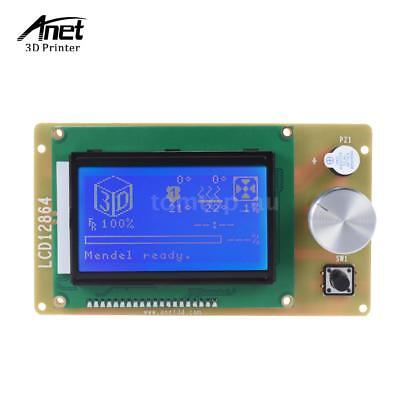 Anet LCD12864 LCD Display Blue Screen Controller for RepRap Ramps 1.4+Cable E5X4