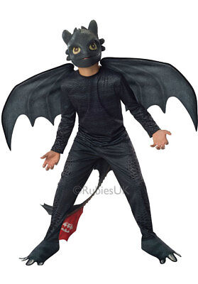 Boys Toothless How To Train Your Dragon TV Halloween Fancy Dress Costume Outfit