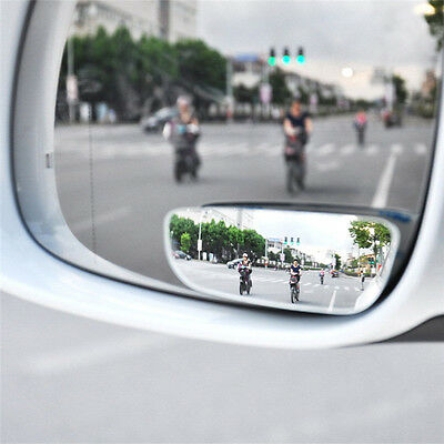 2PCS Universal Car Auto 360° Wide Angle Convex Rear Side View Blind Spot Mirrors