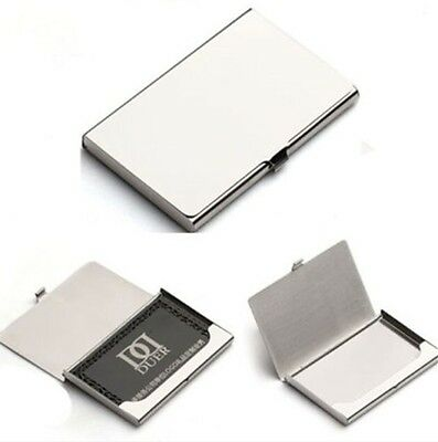 Stylish Aluminium Alloy Box Pocket Business Name Credit ID Card Holder Case 1PC