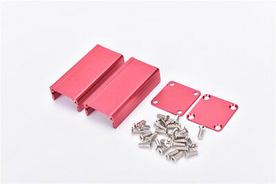 Extruded Aluminum Box Red Enclosure Electronic Project Case PCB 50*25*25mm DSUK
