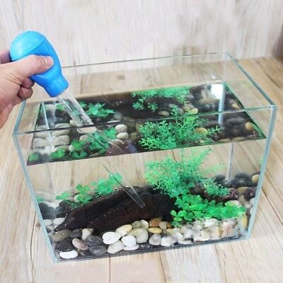 Aquarium Cleaner Gravel Vacuum Fish Tank Siphon Pump For Changing Water