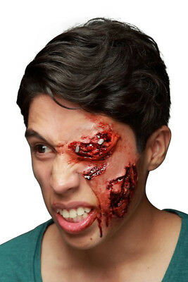 Face Wound Gouged Eye Socket Latex Scar Application Gruesome Halloween Horror