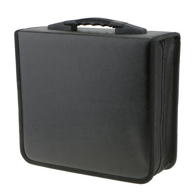 2pcs Portable 400 Disc CD VCD Storage Bag PU Leather Wallet Holder Case Box