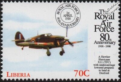 Hawker HURRICANE Mk.XII Fighter Aircraft Stamp (1998 RAF 80th Anniversary)