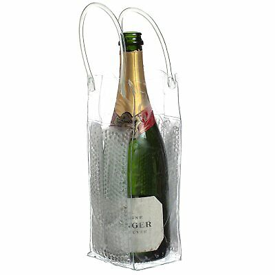 CHILL BAG BUBBLES Ice Tote Clear Wine Bottle Cooler Champagne Chiller Carrier