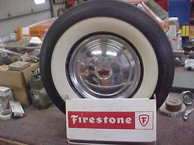 Vintage FIRESTONE Tire Stand SIGN Gas Oil Station Car Truck Display CHEVY FORD