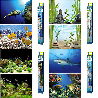 Aquarium Fish Tank Background Poster 2in1 Double Sided Tetra 4 Designs 45 x 60cm