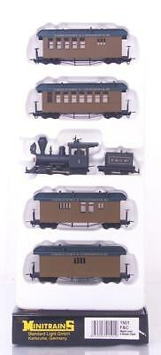 MINT MINITRAINS 1501 HOe 009 - F & C RAILROAD NARROW GAUGE STEAM PASSENGER SET