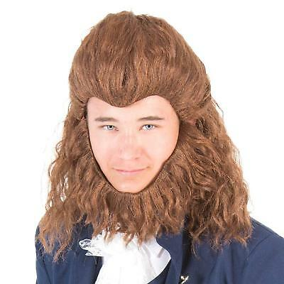 Adult Men's Beast Costume Wig and Beard Set