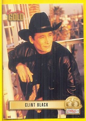 Clint Black, Country Music Star on a 1993 Country Gold Card #108