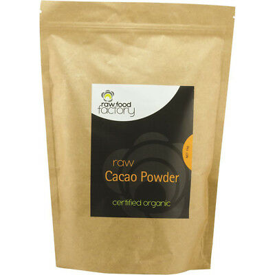 2 x 1kg Raw Food Factory Organic Raw Cacao Powder ( Total 2kg )