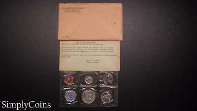 1958 Proof Set ~ Original Envelope With COA ~ US Mint Silver Coin Lot SKU-469