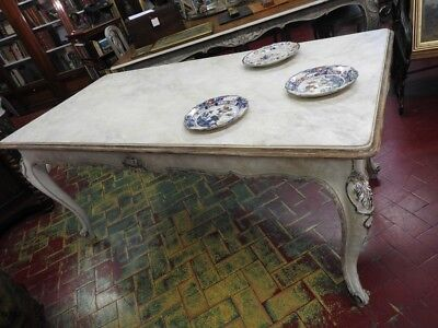 Wonderful Table French Lacquered Provence Extendible Country Chic