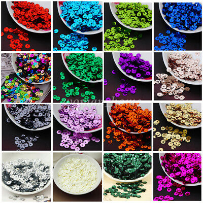 DIY Round Loose PVC Sequins 6mm 750pcs Paillettes Sew-on Wedding Clothing Craft