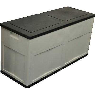 Kingfisher Sturdy Weatherpoof Durable Large Garden Storage Plastic Chest Box New
