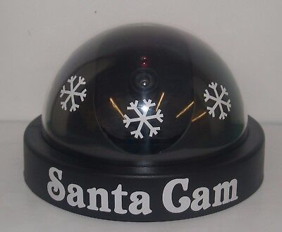 CHRISTMAS SANTA or ELF CAM - Dummy/Replica Dome CCTV Camera - Ideal For The Kids