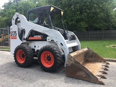 Bobcat S175 Rubber Tire Skid Steer Wheel Loader Diesel Bob Cat Skidsteer