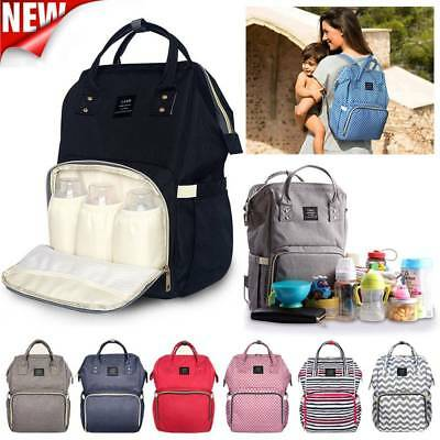 LAND Multifunctional Baby Diaper Nappy Waterproof Backpack Changing Bag UK