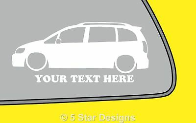 2x LOW YOUR TEXT Vauxhall Zafira AVXR OPC GSi outline sticker 303