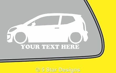 2x LOW YOUR TEXT vw Volkswagen UP!up Outline VAG silhouette stickerDub decal 351