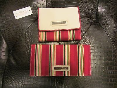 Longaberger HOLIDAY STRIPE Small WALLET & Checkbook Cover NWT