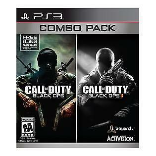 Call of Duty Black Ops 1 & 2 Combo Pack (PlayStation 3, PS3) - FREE SHIPPING ™