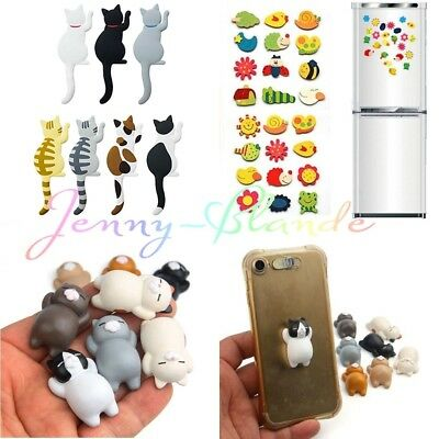 Cartoon 3D Lazy Cat Fridge Magnet Refrigerator Wall Stickers Kids Toy Home Decor