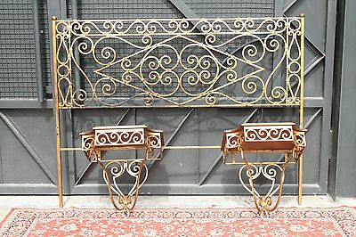 Bridle + 2 Nightstands Wrought Iron E Golden Dating First Half' Of Xx Century