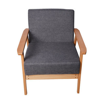 Retro Armchair Dining Leisure Chair Indoor Outdoor Seating Sponge Padded Seats