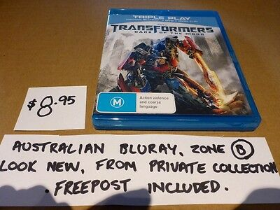097 Bluray - Transformers - Dark Of Moon - Looks New, Aust (B) Zoned, Free Post.