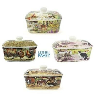 Lesser and Pavey Leonardo Collection Country Butter Dish in Various Designs