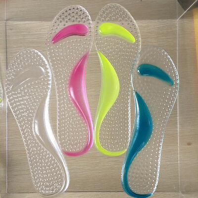 Men's Women's Silicone Gel Shoes Cushion Foot Care Shoes Insert Pad Sole Insole