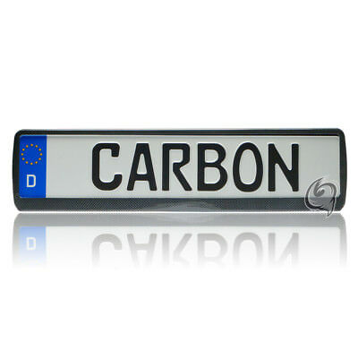 Mercedes 1X CARBON LOOK LICENSE PLATE HOLDER NUMBER TUNING
